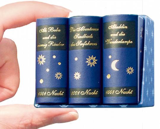 1001 Nacht - Leder-Mini-Ausgabe im Schmuckschuber, 3 Bände