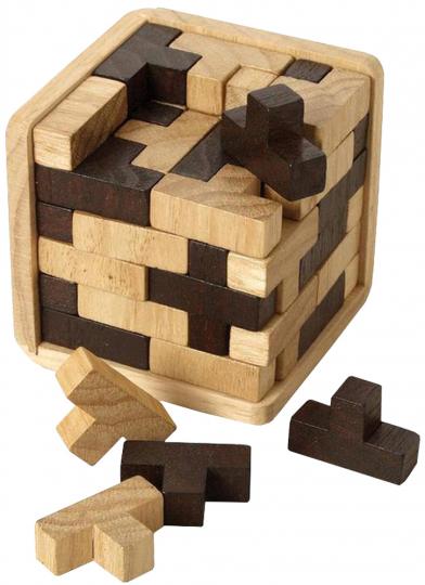 3D Puzzle T-Würfel zweifarbig