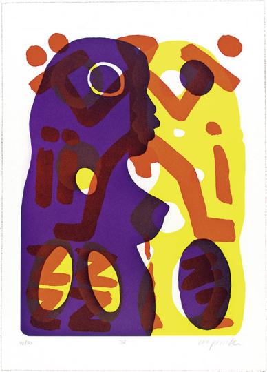 A.R. Penck. Du (lila-gelb) II.