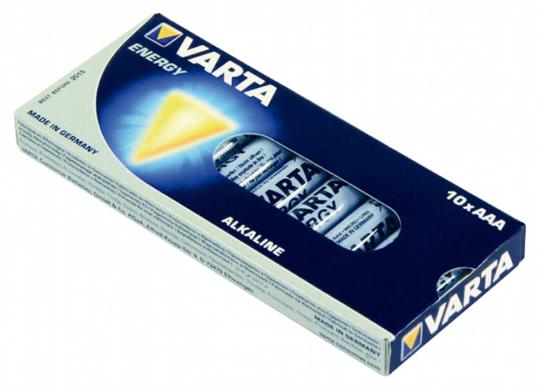 10 AAA-Micro Batterien 1,5 Volt.