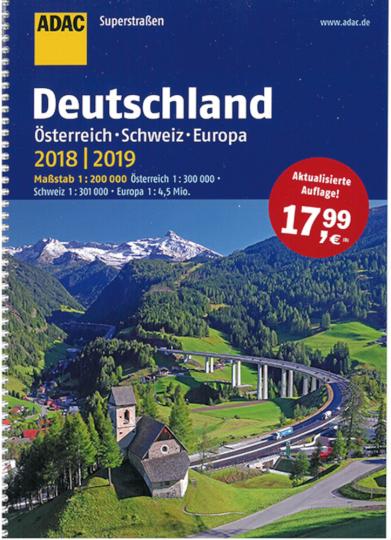 ADAC Superstraßen Deutschland, Österreich, Schweiz & Europa 2018/2019.