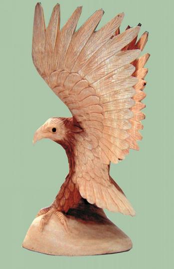 Adler aus Soar- Holz 30 cm