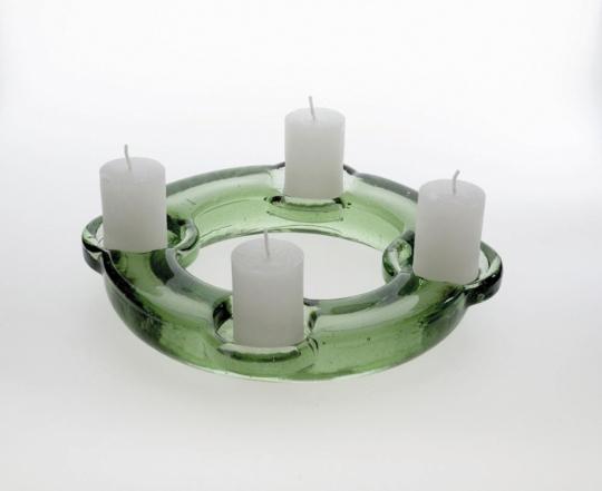 Adventskranz aus Glas.