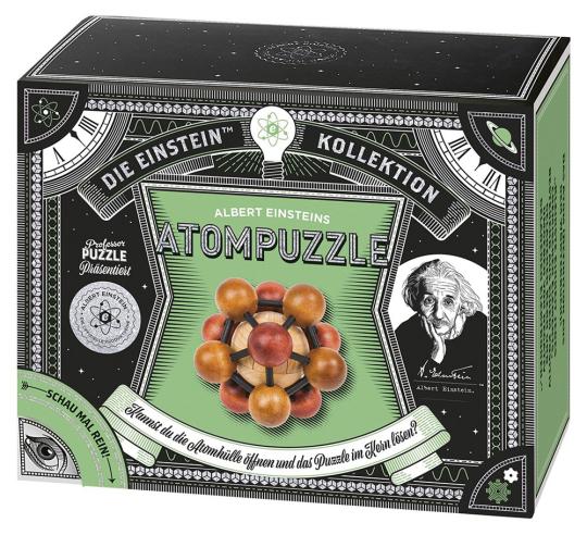 Albert Einsteins Atompuzzle. Geduldspiel.
