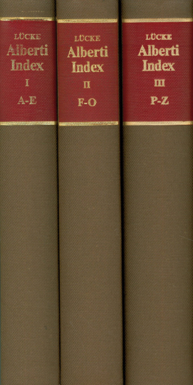 Alberti Index. Leon Battista Alberti. De re aedificatoria. Florenz 1485. 4 Bände.