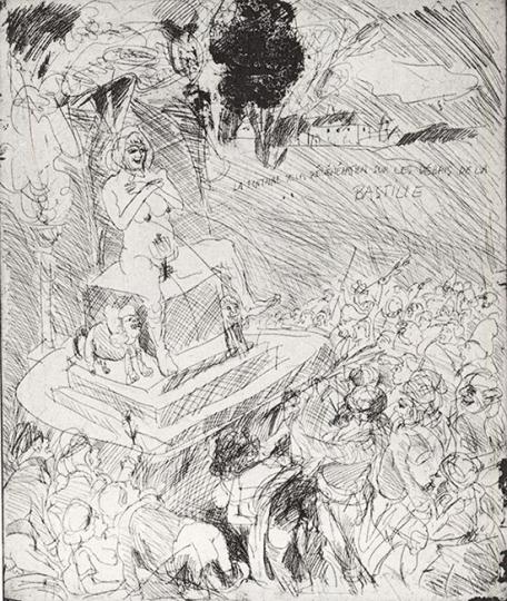 Alfred Hrdlicka. »La fontaine de la régénération sur les débris de la Bastille, 10. August 1793« 1989.