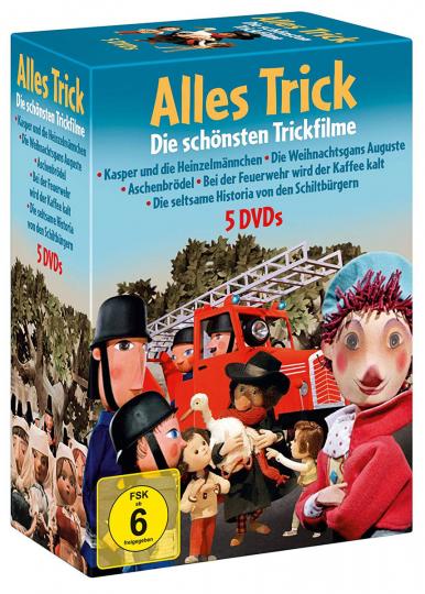 Alles Trick: Die schönsten Trickfilme. 5 DVDs.