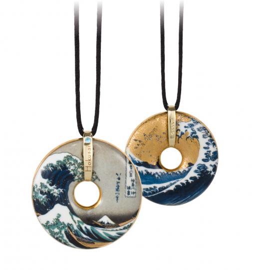 Amulett »Die Welle« nach Katsushika Hokusai.