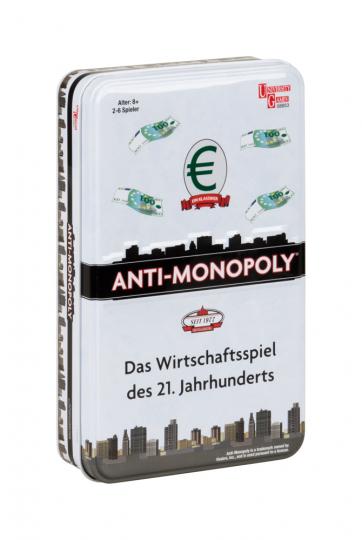 Anti-Monopoly. Reisespiel in Metallbox.