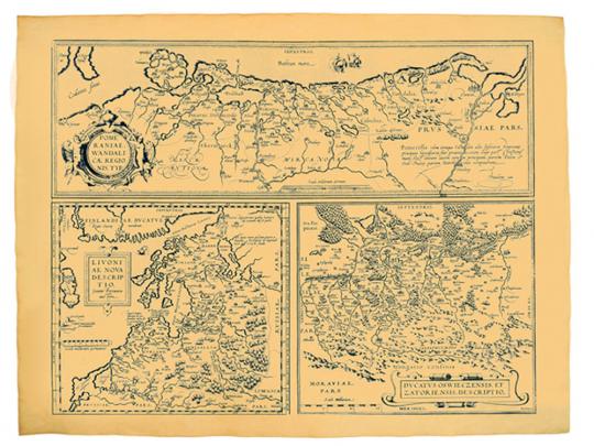 Antica Karte: Pommern und die baltischen Länder