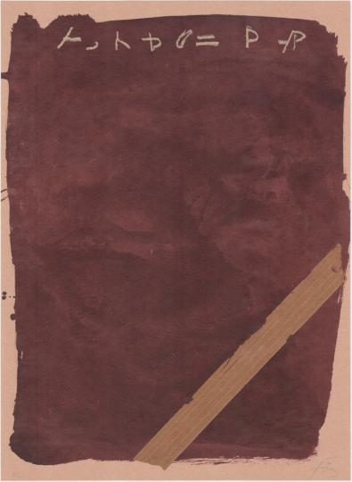 Antoni Tàpies. Farblithografie »Llambrec material XIII«, Galfetti 551 (1975).