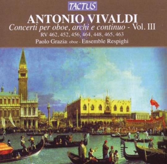 Antonio Vivaldi. Oboenkonzerte RV 448, 452, 456, 462-465. CD.