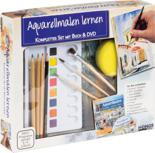 Aquarellmalen lernen. Komplettes Set mit Buch & DVD.