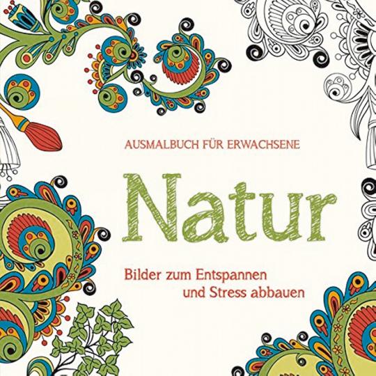 Ausmalbuch für Erwachsene: Natur