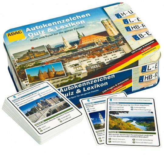 Autokennzeichen-Quiz: Buch & Spiel.