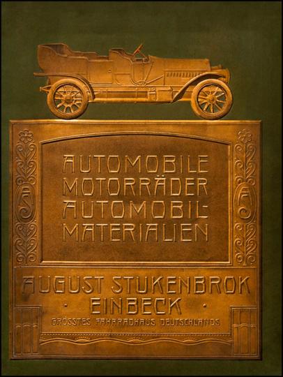 Automobile, Motorräder, Automobil-Materialien (um 1910).