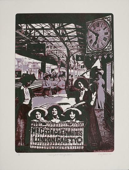 Barry Herbert. »Chorus Girls at Wellington Station.«