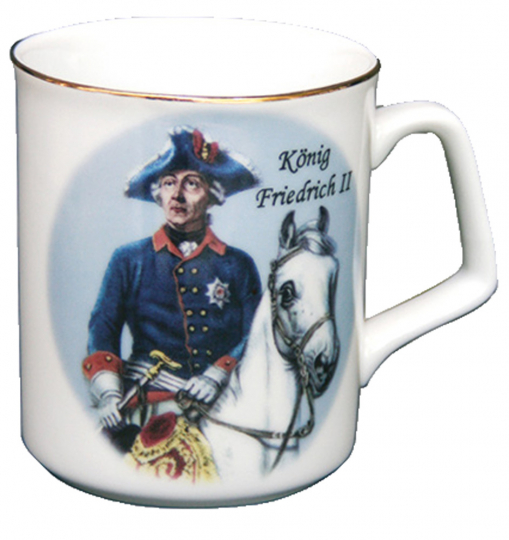 Becher Friedrich zu Pferd.