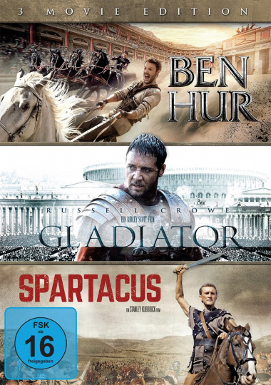 Ben Hur / Gladiator / Spartacus. 3 DVDs.