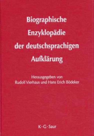Biographische Enzyklopädie der deutschsprachigen Aufklärung