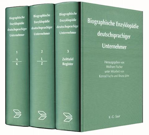 Biographische Enzyklopädie deutschsprachiger Unternehmer 3 Bde.