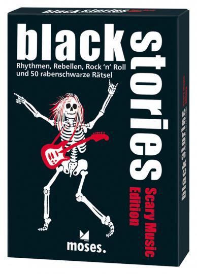 Black Stories - Scary Music Edition. Rythmen, Rebellen, Rock'n'Roll und 50 rabenschwarze Rätsel.
