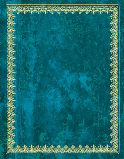 Blank Book Notizbuch. Lederlook blau, klein.