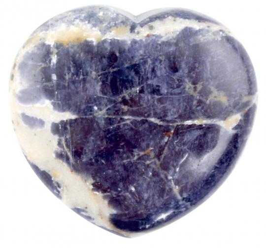 Blauquarz-Herz in Organza Beutel