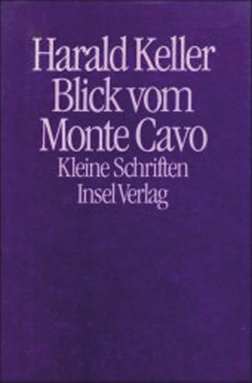 Blick vom Monte Cavo. Kleine Schriften.