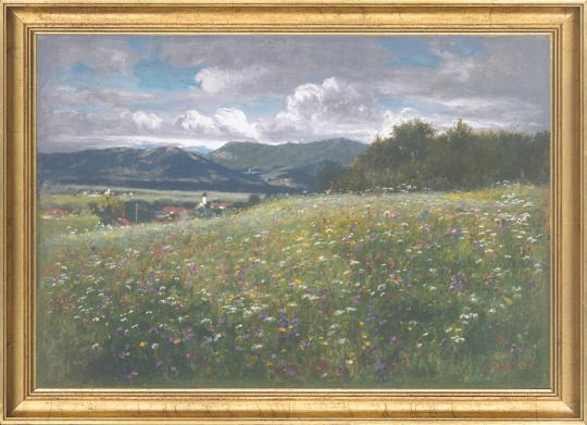 Blumige Wiese. Johann Sperl (1840-1914).