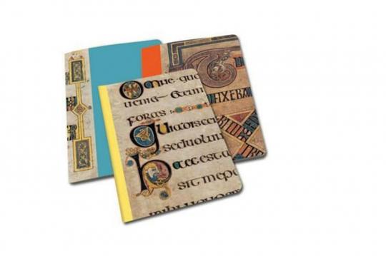 Book of Kells. 3 linierte Notizbücher.