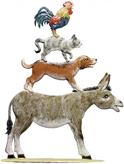 Bremer Stadtmusikanten Zinnfigur.