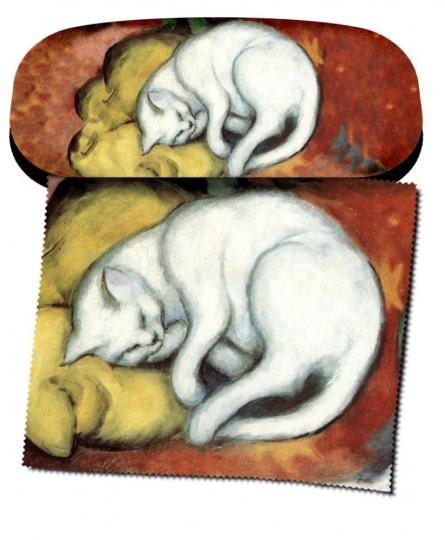 Brillenetui Franz Marc »Weiße Katze«.