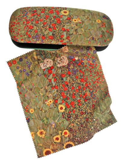 Brillenetui Gustav Klimt »Bauerngarten mit Sonnenblumen«.