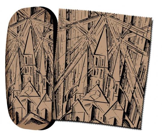 Brillenetui Lyonel Feininger »Kathedrale«.