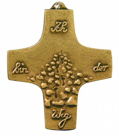 Bronze-Kreuz 'Ich bin der Weg'