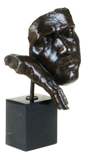 Bronzebüste »Der Schlafende«, Hommage an Salvador Dali.