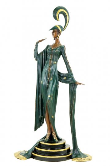 Bronzefigur Ferdinand Preiss »Art Deco Revue Tänzerin«.