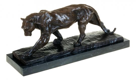 Bronzefigur Rembrandt Bugatti »Panther im Lauf«.