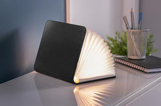 Buch als Lampe, klein, Leder-Edition.