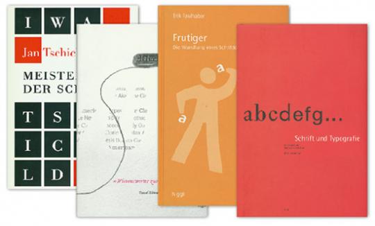 Buchpaket »Klassische Typografie« 4 Bände.