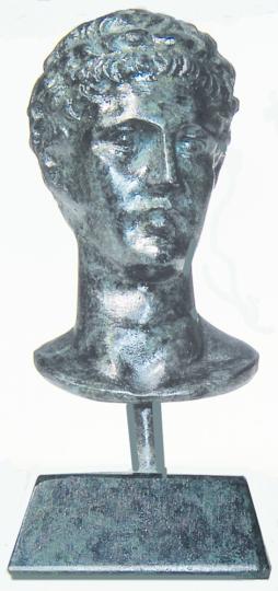 Büste Hermes - Messing, patiniert