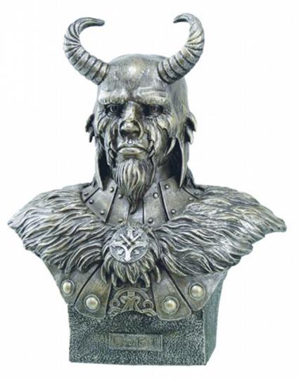 Büsten Germanische Götter - Loki, Gott des Bösen und des Feuers