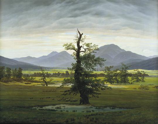 Caspar David Freidrich. Der einsame Baum. 1822.