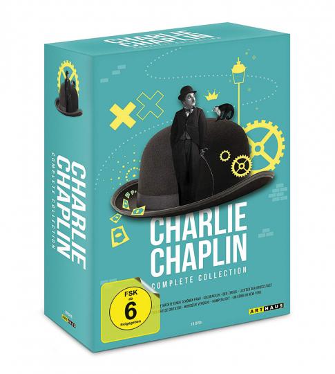 Charlie Chaplin (Komplette Sammlung). 12 DVDs.