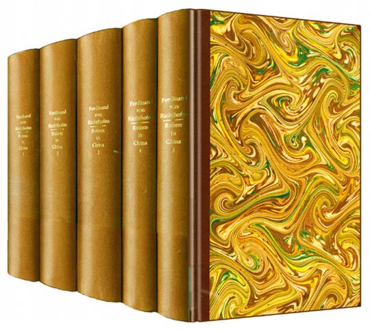China - Ergebnisse eigener Reisen und darauf begründete Studien - Faksimile nach einer Ausgabe aus den Jahren 1877-1885 5 Bde.