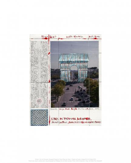 Christo. Arc de Triomphe II. Project for Paris.