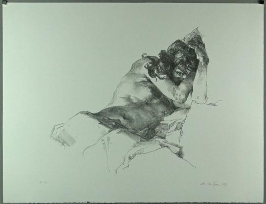 Christoph Wetzel. Das Auge. Lithografie.