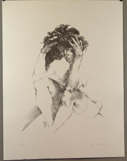 Christoph Wetzel. Der Blick. Lithografie.