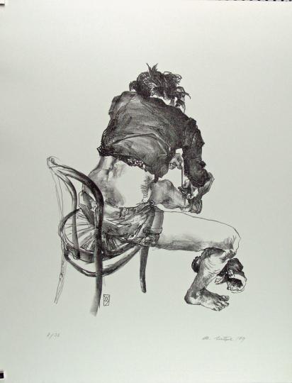Christoph Wetzel. Der Schuh. Lithografie.